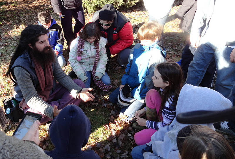 dan with kids at herb walk